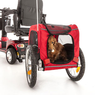DOG TRAILER FOR MOBILITY SCOOTER